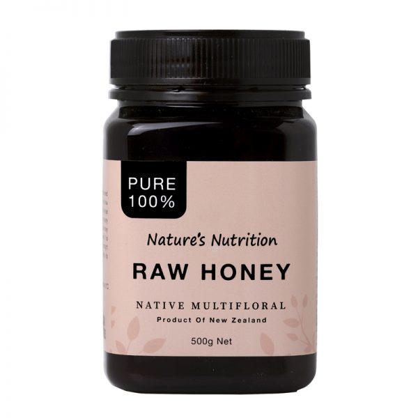 Nature's Nutrition Raw Honey 500g Front-800x800