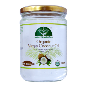 Nature's Nutrition Organic Virgin Coconut Oil 500ml