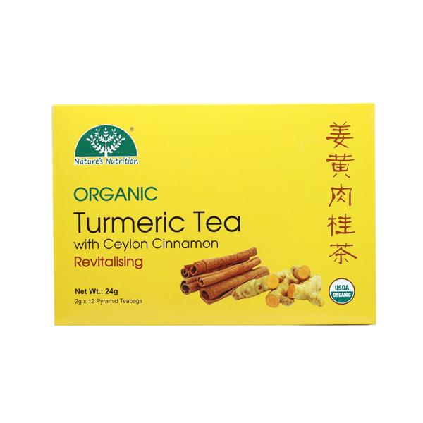 Nature's Nutrition Organic Turmeric & Cinnamon tea 12s
