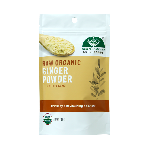 Nature's Nutrition Organic Ginger Powder 100g
